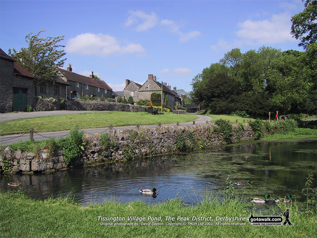 Tissington Village, The Peak District National Park, Derbyshire, England
