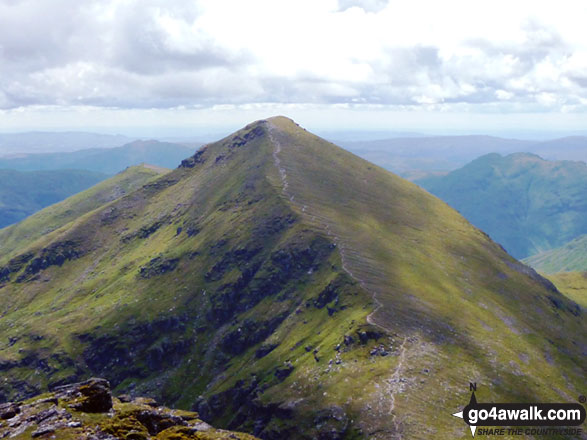 Stob Binnein (The Anvil Peak) from Ben More (The Crianlarich Hills)