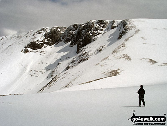 Stob Coire an t-Sneachda (Carn Gorm) from Fiacaill Choire an t-Sneachda at the top of the Fiacaill Buttress Taken on a sunny and snowy 6th May, 2012