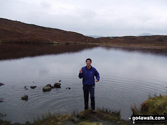 Me on Beacon Tarn (Blawith Fells) in The Lake District Cumbria England