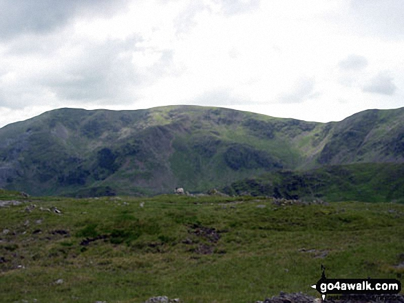 The Old Man of Coniston (left) and Brim Fell from near Low Water