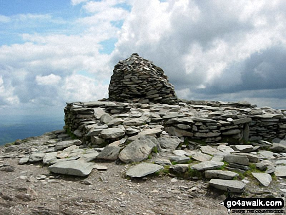 The summit cairn on The Old Man of Coniston