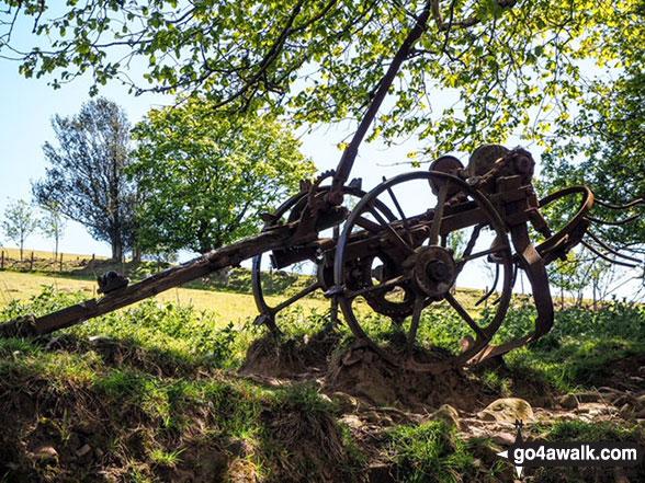 Old farm machinery on the way to Foel Fynyddau