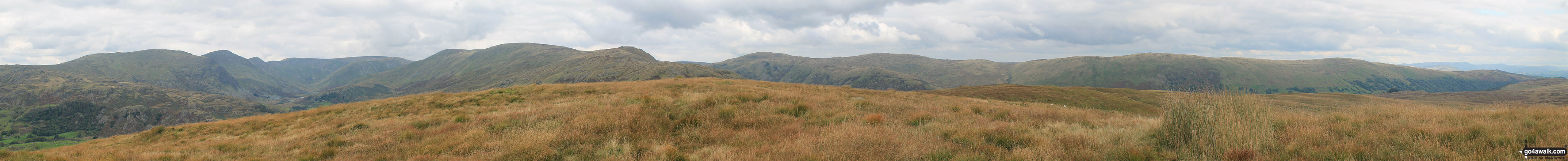 The Lake District horizon from Hollow Moor (Green Quarter Fell)