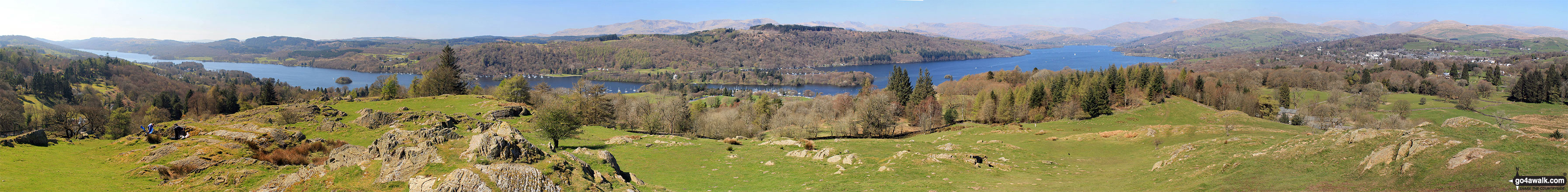 Lake Windermere and Bowness-on-Windermere from the summit of Brant Fell