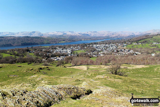 Lake Windermere and Bowness-on-Windermere from the summit of School Knott