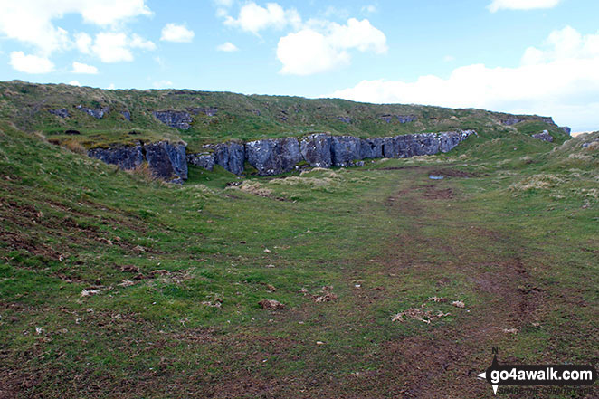 The disused quarry on Faulds Brow