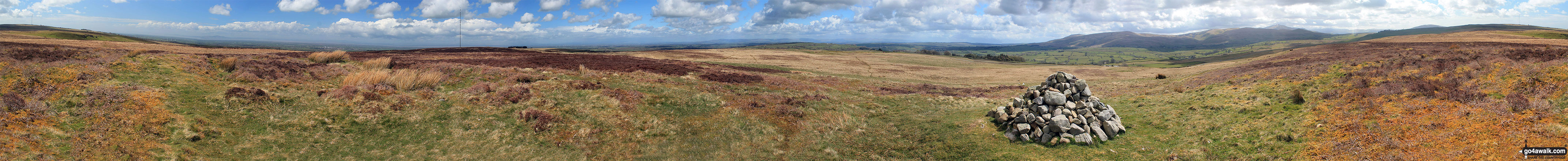 Panorama from the summit of Faulds Brow