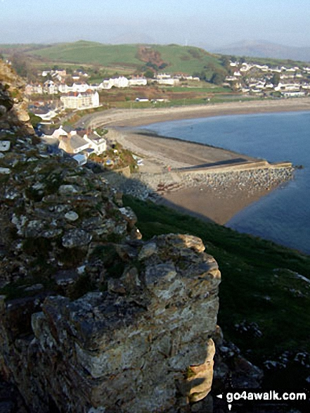 East from Criccieth Castle