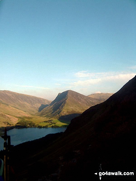 Fleetwith pike from Buttermere. Walk route map c228 Hay Stacks from Buttermere photo