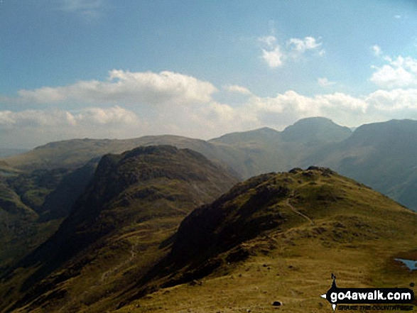 Walk Picture/View: Seat and Hay Stacks with Great Gable beyond from High Stile in The Western Fells, The Lake District, Cumbria, England by Alan Gent (3)