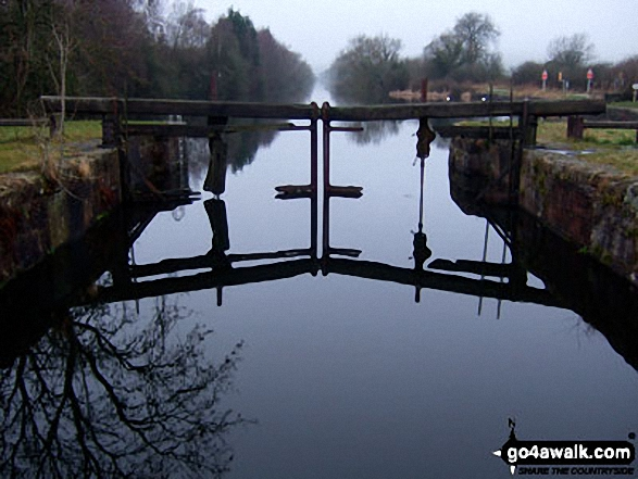 Former lock gates at Canal Foot, the entrance to the Ulverston Canal