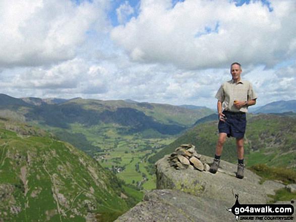 Neil, my walking chum on Eagle Crag walk The Lake District Cumbria England walks