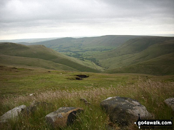 The Edale Valley from between Noe Stool (Edale Head) and Pym Chair (Edale Head)