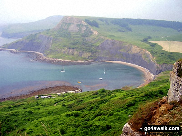Chapman's Pool from St Aldhelm's Head (or St Alban's Head), The South West Coast Path