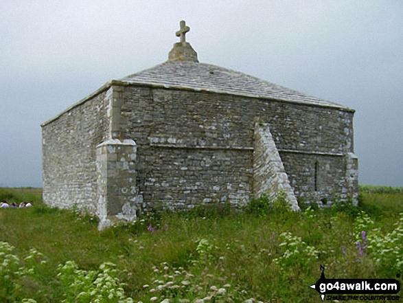 St Aldhelm's Chapel on the South West Coast Path
