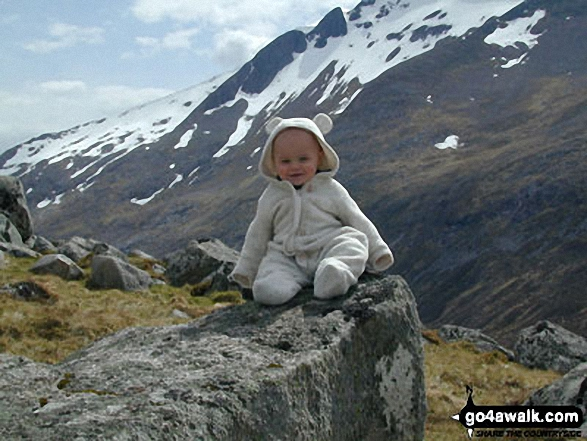 My son George on Aonach Mor in Ben Nevis, The Anonachs and the Grey Corries HIghland Scotland