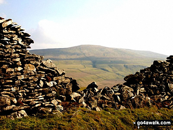 Buckden Pike from the track above Cray. Walk route map ny133 Yockenthwaite from Buckden photo