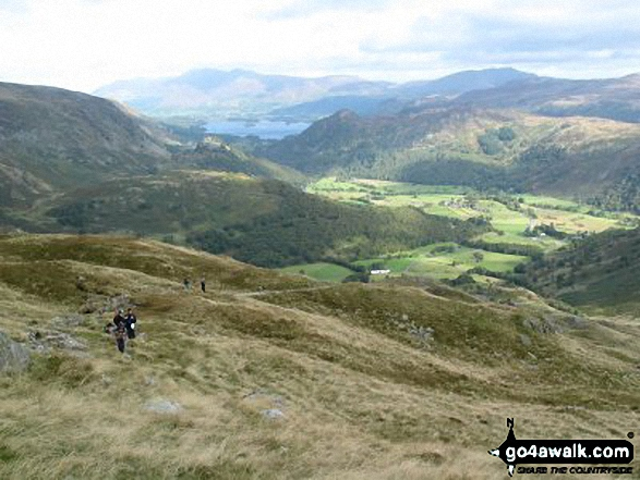 Walk Picture/View: Derwent Water and Borrowdale from Glaramara in The Southern Fells, The Lake District, Cumbria, England by Alan Sturges (4)
