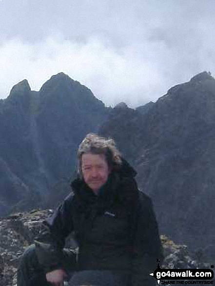 Atop Sgurr Na Banachdich with the southern Cuillin Ridge In the background