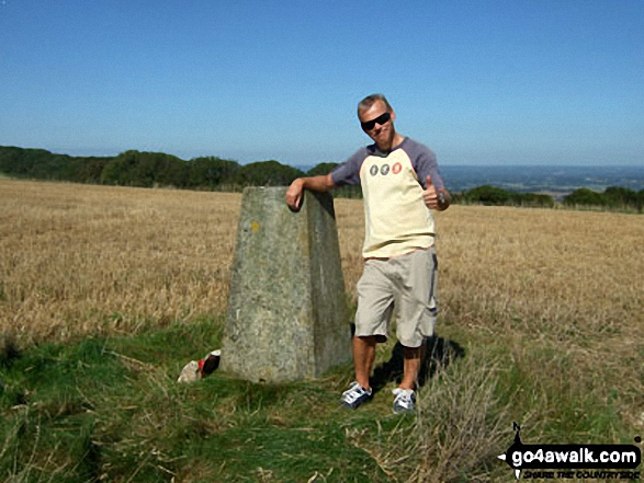 Me at Steyning Round Hill Trig Point