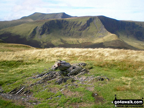 Bannerdale Crags (mid-ground) and Blencathra (or Saddleback) from Souther Fell