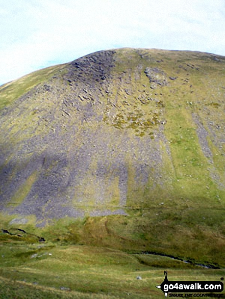 Bannerdale Crags from Brunt Knott (Blencathra) below Sharp Edge