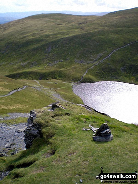 Scales Tarn from the start of Sharp Edge, Blencathra (or Saddleback)