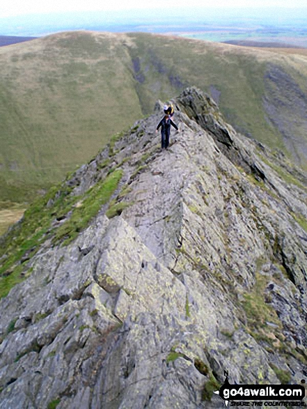 Negotiating Sharp Edge, Blencathra (or Saddleback)