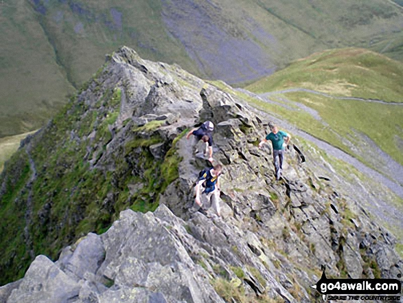 Tackling Sharp Edge, Blencathra (or Saddleback)