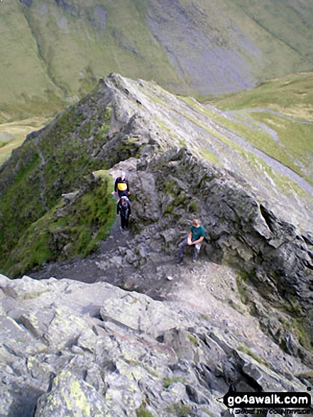 Climbing Sharp Edge, Blencathra (or Saddleback)