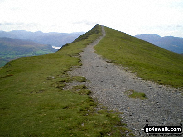 Approaching Knowe Crags, Blencathra or Saddleback