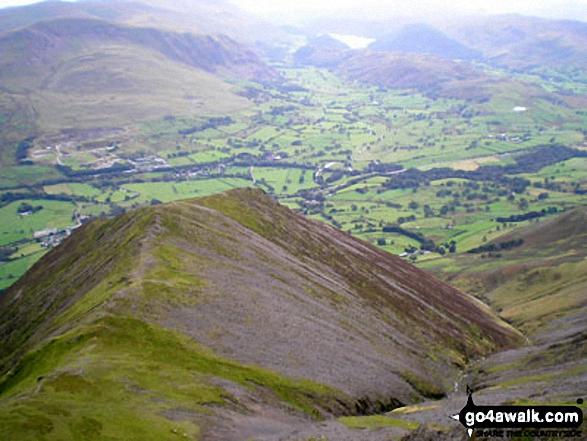 Gategill Fell, Threlkeld and The Glendermackin Valley from Blencathra or Saddleback