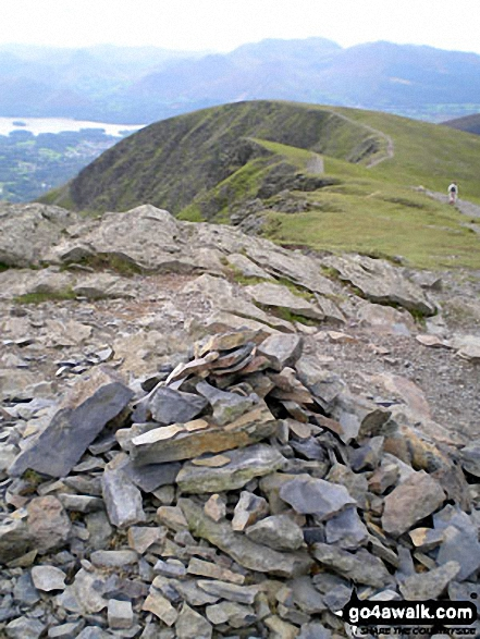 Hallsfell Top summit cairn, Blencathra or Saddleback