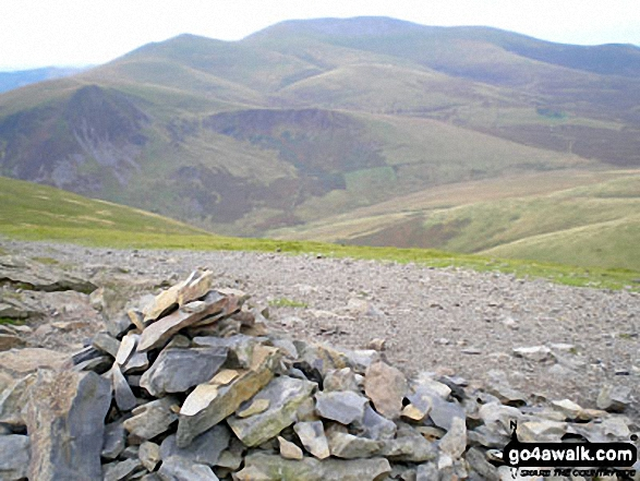 Skiddaw from Hallsfell Top summit cairn, Blencathra or Saddleback