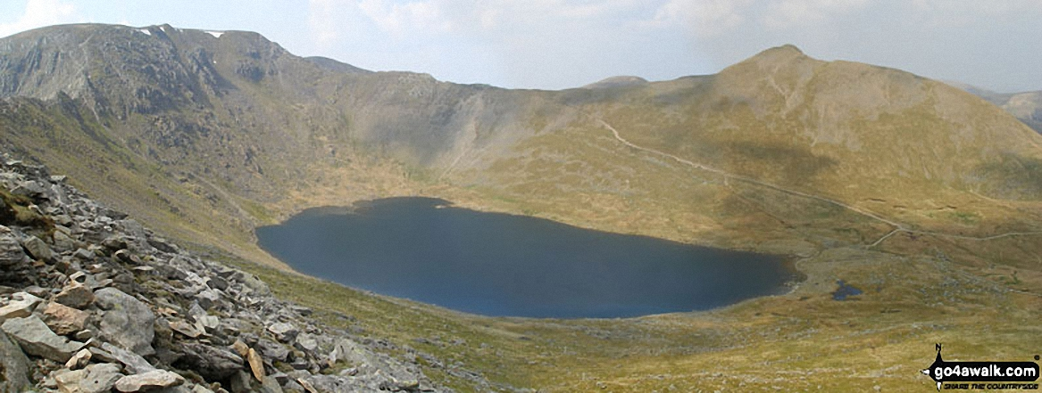 Helvellyn, Red Tarn, Swirral Edge and Catstye Cam from Striding Edge
