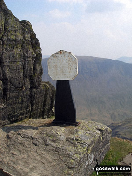 The Robert Dixon Memorial on Striding Edge