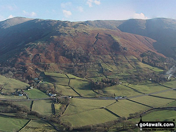 Great Rigg (left). Stone Arthur (centre) and Heron Pike (right) from the top of High Raven Crag