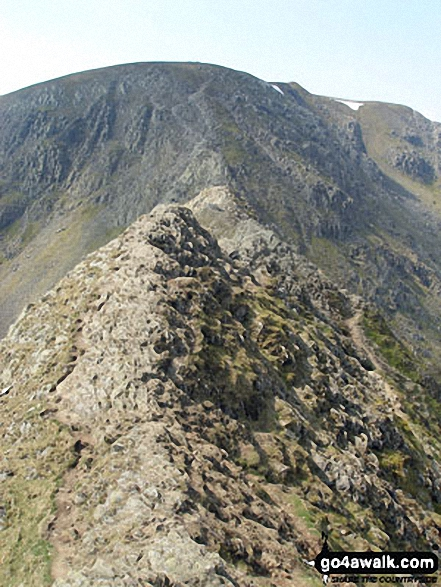 Walk c264 The Grisedale Round from Patterdale - On Striding Edge en-route to Helvellyn
