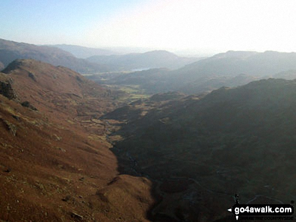 The Far Easdale Valley with Helm Crag (left) and Loughrigg (centre distance) from Brownrigg Moss