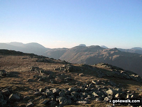 Glaramara from Low White Stones summit
