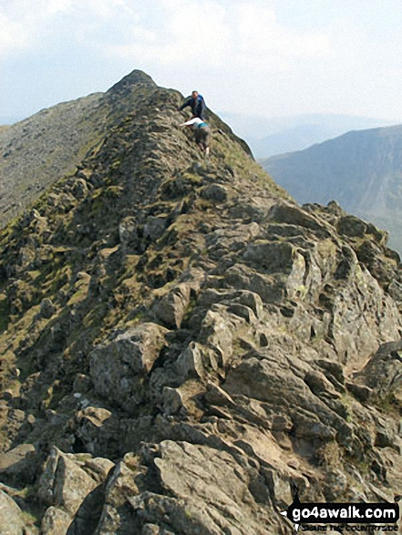 The 'Bad Step' at the western end of Striding Edge