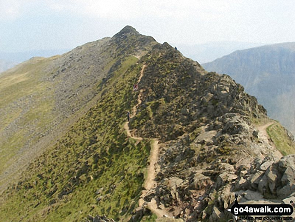 The 'easier' path on the north side of Striding Edge