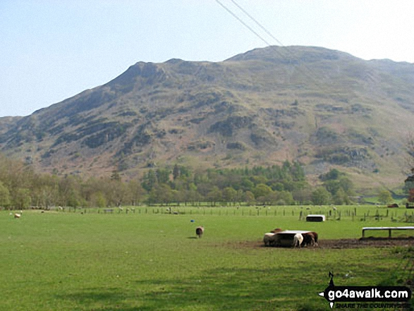 Place Fell from Patterdale. Walk route map c235 The Deepdale Horseshoe from Patterdale photo