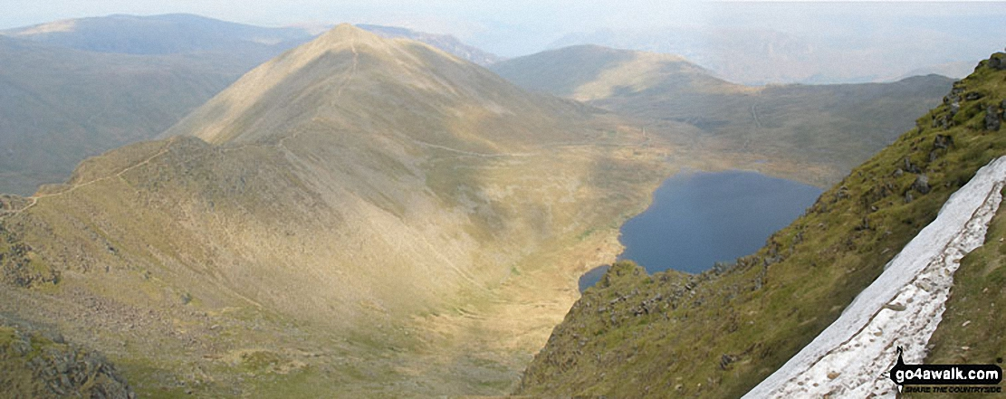 Swirral Edge, Catstye Cam and Red Tarn from Helvellyn
