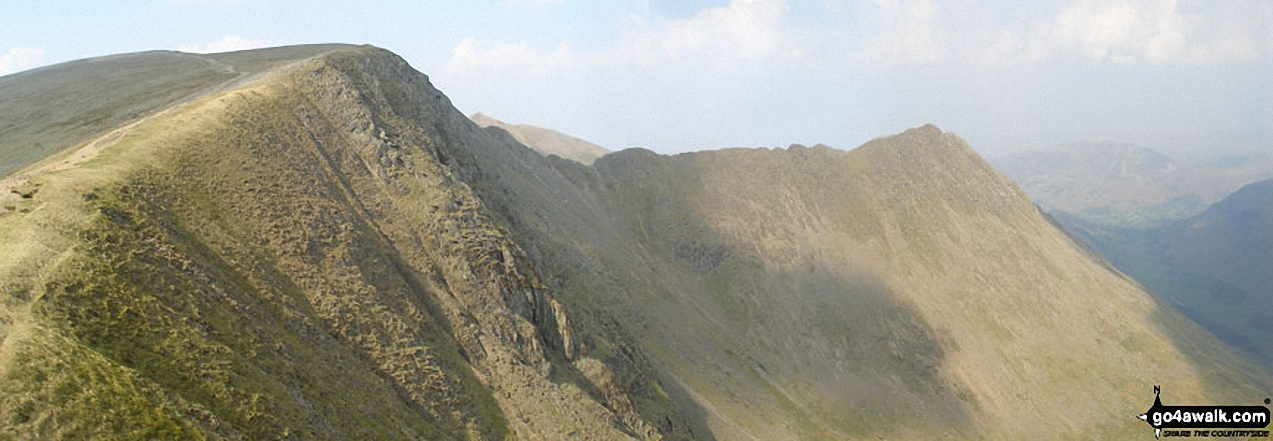 Helvellyn and Striding Edge from Nethermost Pike
