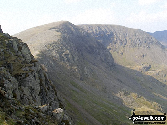 Helvellyn, Nethermost Pike and High Crag from Dollywaggon Pike