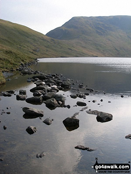 Grisedale Tarn from Brothers' Parting Stone. Walk route map c264 The Grisedale Round from Patterdale photo