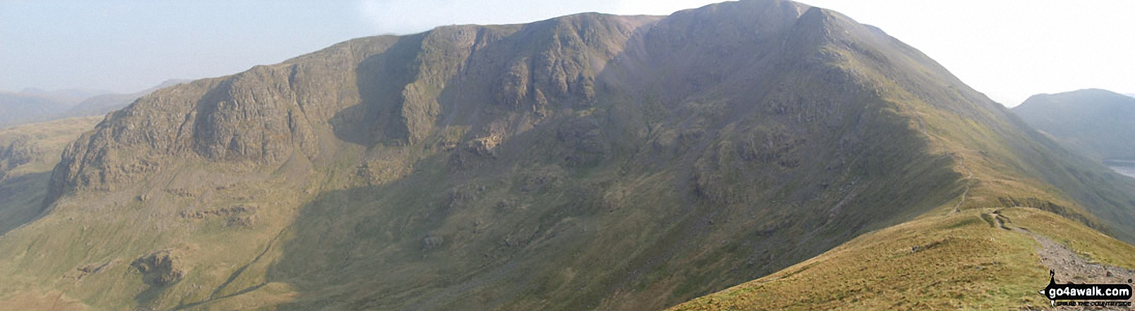 Hartsop above How, Hart Crag and Fairfield from Deepdale Hause
