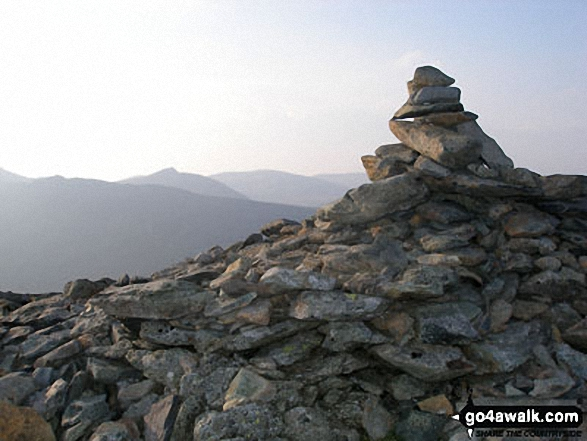 Walk c264 The Grisedale Round from Patterdale - St Sunday Crag summit cairn